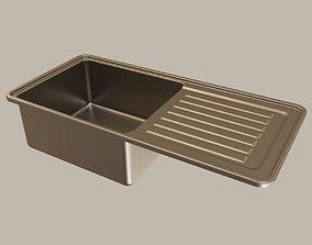 stainless steel kitchen sink 3D