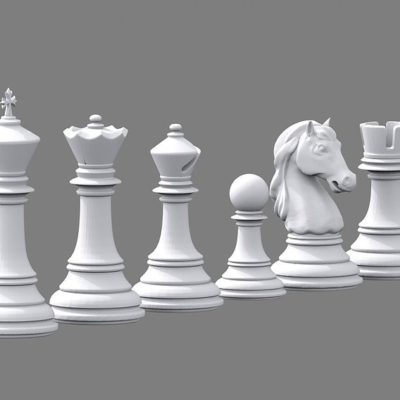 Stauton chess pieces.