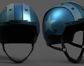 VR / AR ready Helmet sport scifi bike coloring model 2