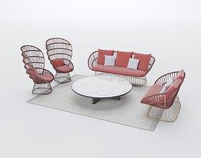 3D kettal KETTAL CALA Outdoor set
