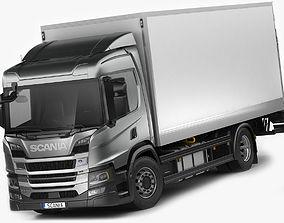 Scania P-series 2018 rigid truck 3D