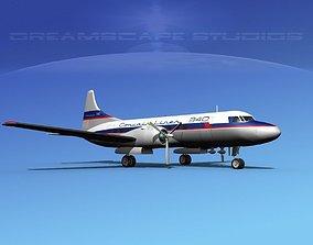 Convair CV-340 Convair Liner 3D model