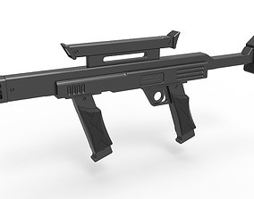 Security blaster rifle from the movie Lost in 3D model 1
