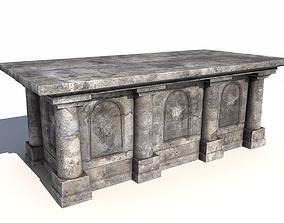 3D model Old stone altar 3