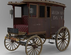 3D Commercial Horse-Drawn Wagon