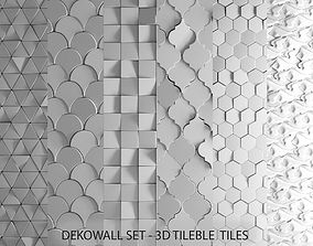 Deko Wall Set Tilable tiles 3D