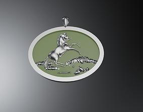 Pendant horse 3D printable model