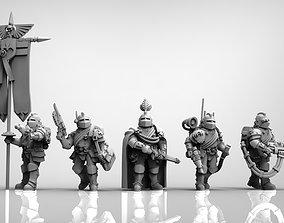 Feudal Guard Command Squad Elite 3D print model