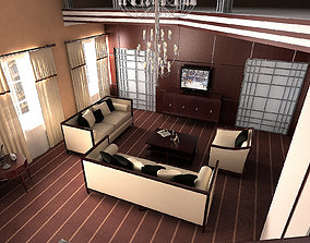 Artdeco Liveroom decoration 3D model