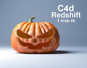 Halloween pumpkin evil 3D model