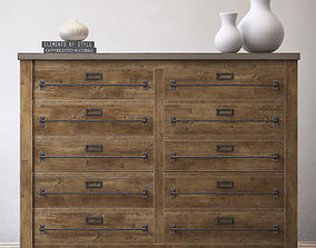 MERCANTILE 10-DRAWER LARGE CHEST 3D