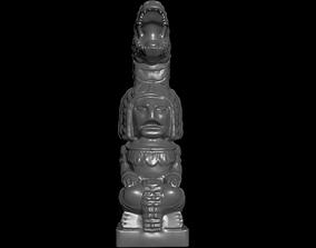 3D print model Mayan statue with crocodile head stl