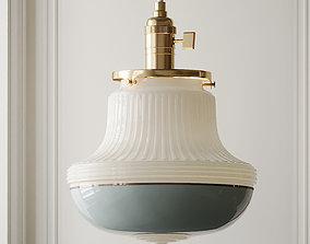 3D blue Brass Art Deco Pendant Light