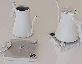 Contemporary colourful kettle2-white 3D asset realtime