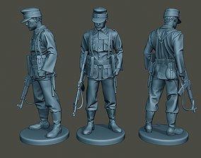 German soldier ww2 Looking Down G3 3D print model