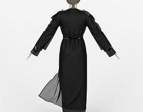 3D model Arabian Abaya dress