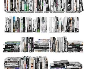 Books 150 pieces 4-6-2 3D asset