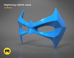 3D print model Nightwing Rebirth mask