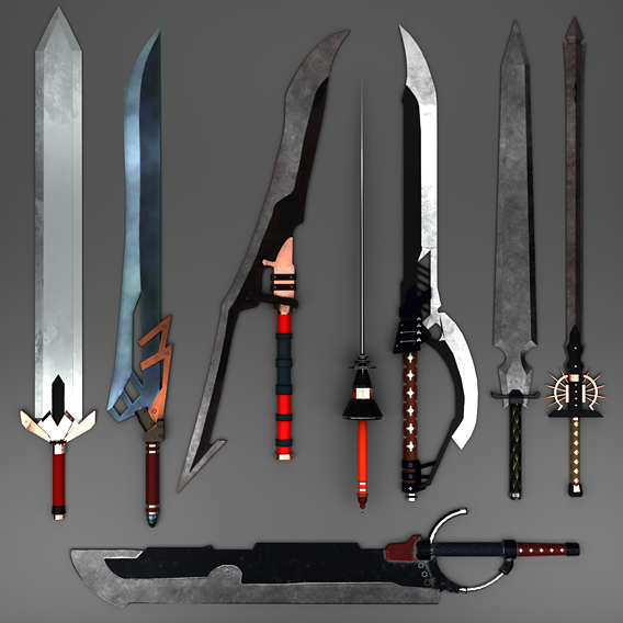 Lowpoly Sword Set