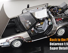 3D print model Back to the Future 1 DeLorean 1-18 Scale 2