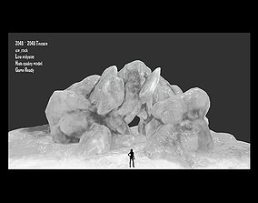 Ice Cave 3D model game-ready