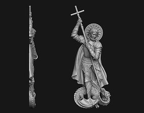 Saint George Bas-Relief 3D print model