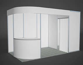 3D model Exhibition stand octanorm 4x2 m duga