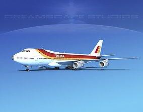 3D Boeing 747-100 Jumbo Jet Iberia