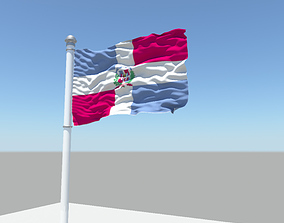 Dominican Republic flag 3D model
