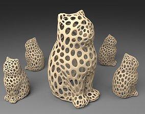 3D print model LASER CAT - Voronoi Style