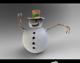 3D model Snow man 2