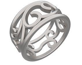 3D printable model Filigree Design Ring