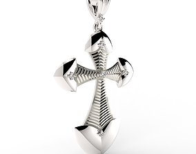 3D print model Modern Crucifix Pendant Senses