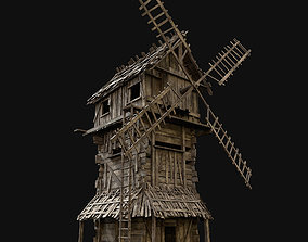 Next Gen AAA Wooden Enterable Windmill 3D model