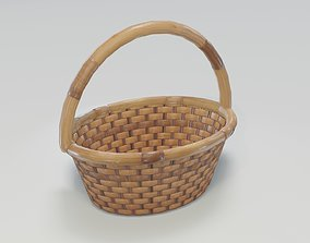 Wooden Wicker Basket 3D Model realtime basket