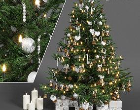 merry pine Christmas tree 3D