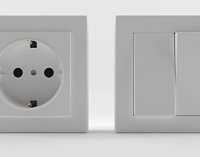 Europe Switches-Socket 3D Model