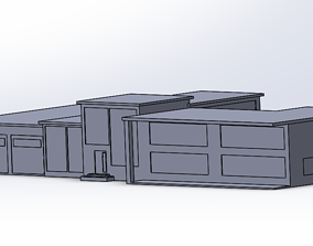 Modern and minimalist 3D house