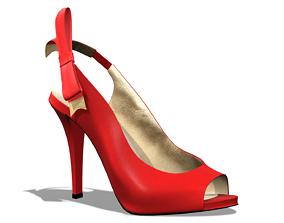 Melanie Bow Shoes 3D model