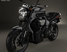Yamaha MT-01 2009 3D model