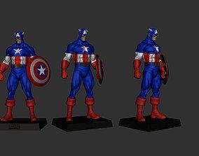 eaglemoss Captain America Classic Avengers 3D print model