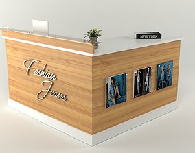 3D model Reception Office Counter