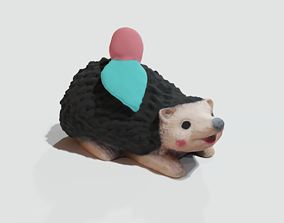 outdoor 3D print model Garden Hedgehog statue