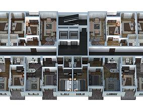 Apartments 3d plan