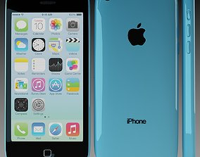 3D Apple iPhone 5c Blue