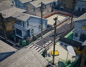 modern Japanese Residential Area Collection 3D