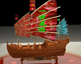Chinese junk boat 3D