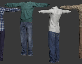 set of clothes for the character 3D model