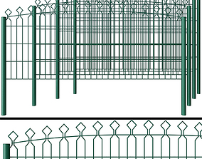 Metal Wicket fence 3D