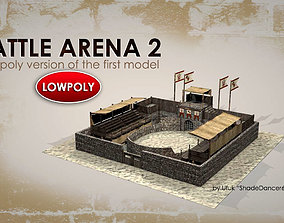 OLD BATTLE ARENA v2 3D asset